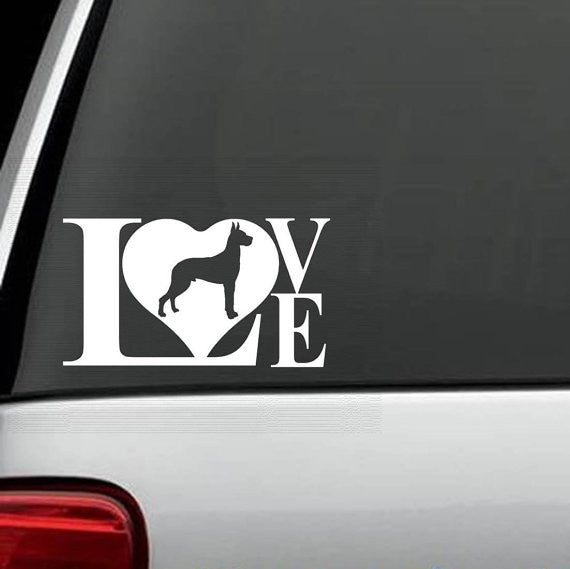 Great Dane Love Decal