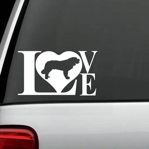 St. Bernard Love Decal