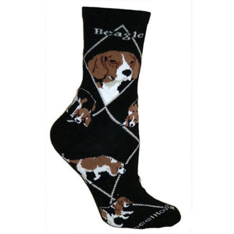 ** Quality Beagle Blended Crew Socks