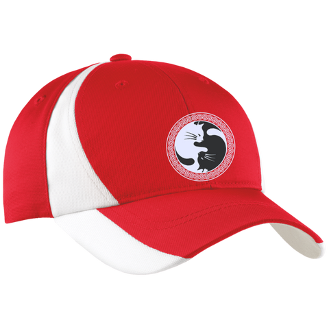 *Yin Yang Cat Mid-Profile Colorblock Hat