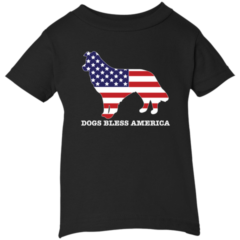 * Border Collies Bless America Toddler & Infant