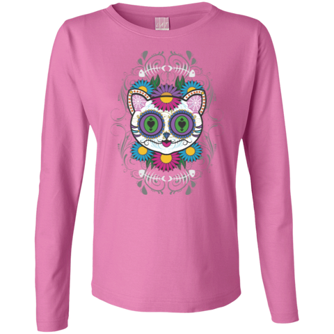 *Sugar Skull Cat Womans Tshirts