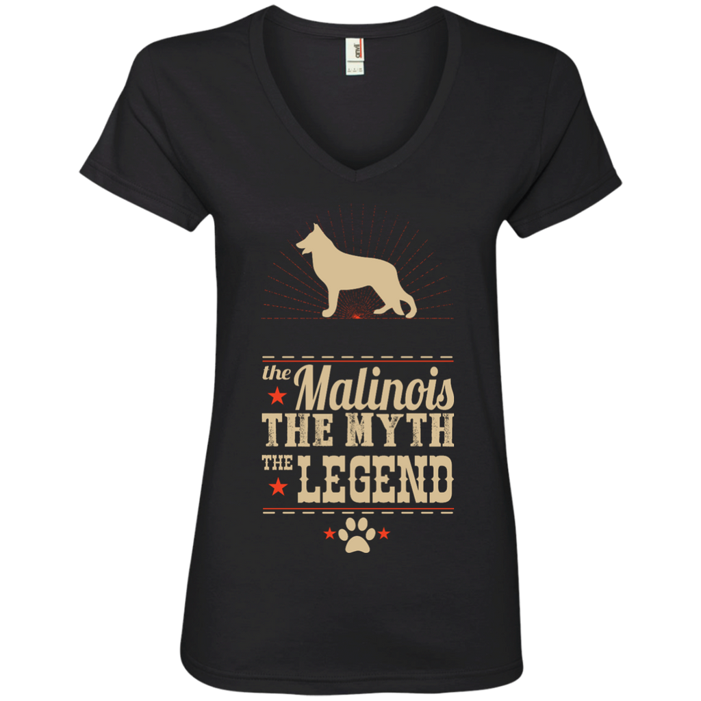 *    The Legend Belgian Malinois - Ladies' V-Neck Tee