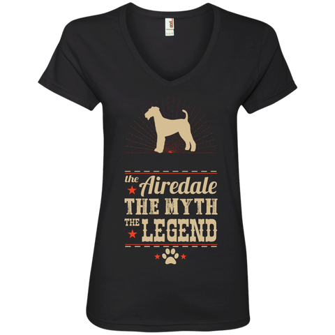 * The Legend Airedale Ladies' V-Neck Tee