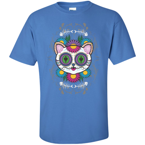 * Sugar Skull Cat Unisex T-shirts
