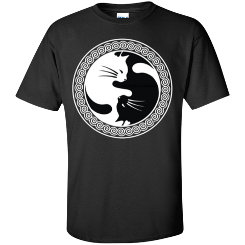 **Yin Yang Cat $14.95 Ultra Cotton T-Shirt