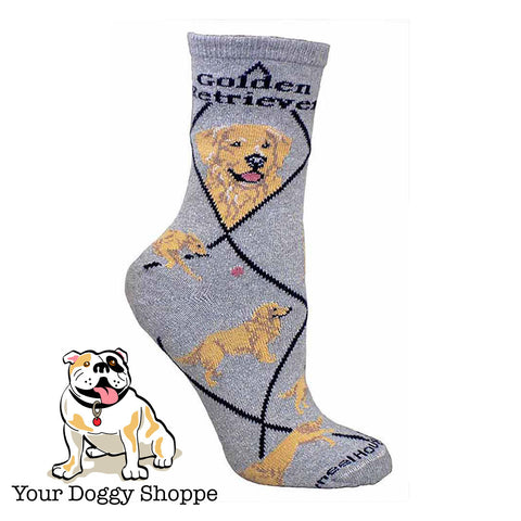 ** Quality Golden Retriever Blended Crew Socks
