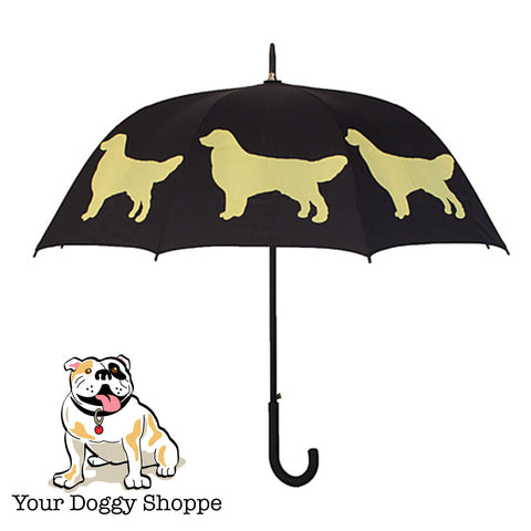 ** Golden Retriever Umbrella Black & Light Yellow