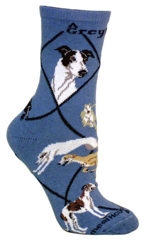 ** Quality Greyhound Blended Crew Socks