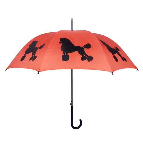 ** Poodle Umbrella Black & Orange