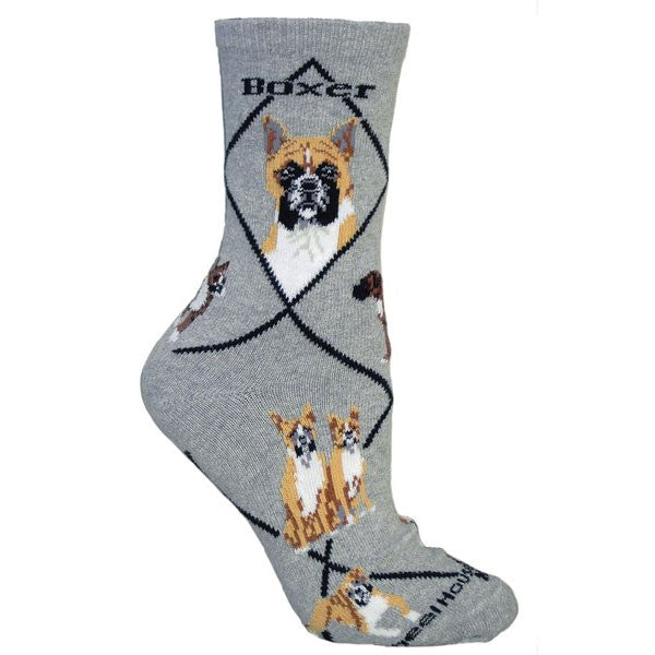 ** Quality Boxer Blended Crew Socks