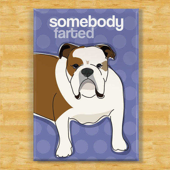 Bulldog Magnet - Somebody Farted