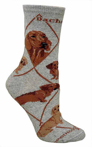 ** Quality Dachshund Blended Crew Socks