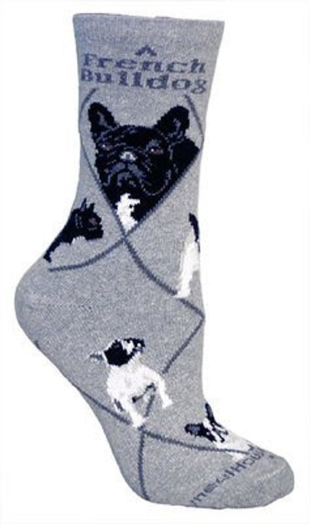 ** Quality Frenchie Blended Crew Socks