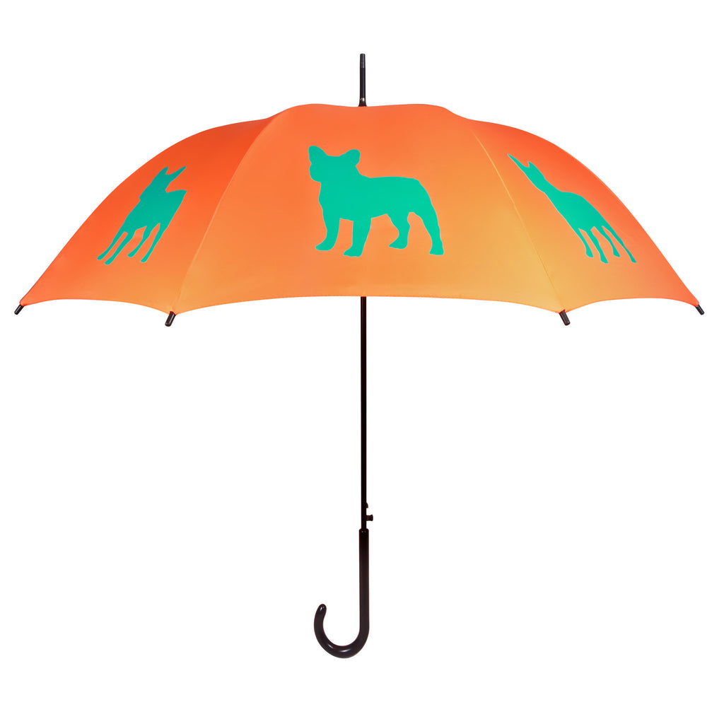 ** Frenchie Umbrella Blue & Gold