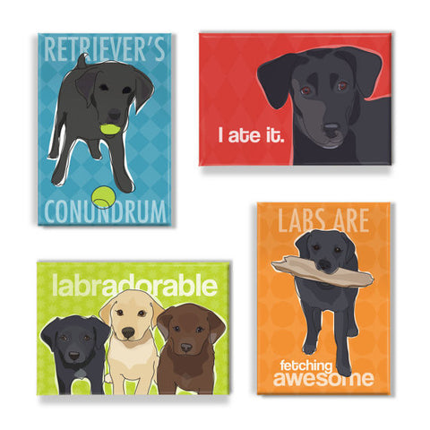 ** Black Lab Magnet Set