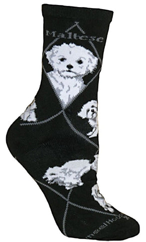 ** Quality Maltese Blended Crew Socks
