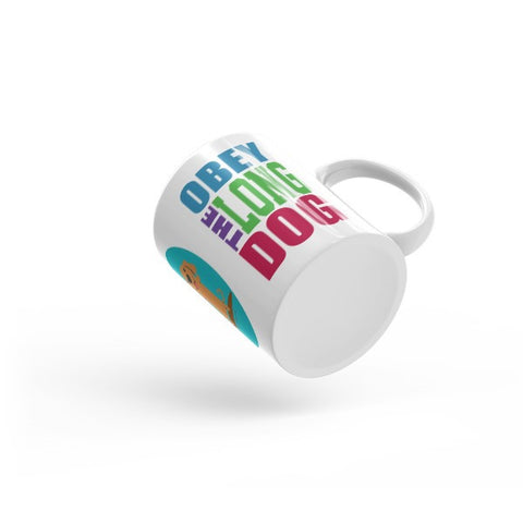 Obey the Long Dog Mug - Red