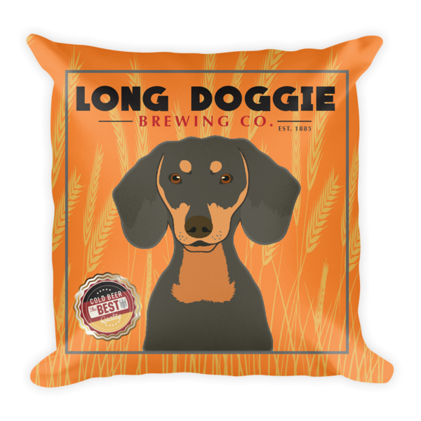 ** Long Doggie Dachshund Pillow