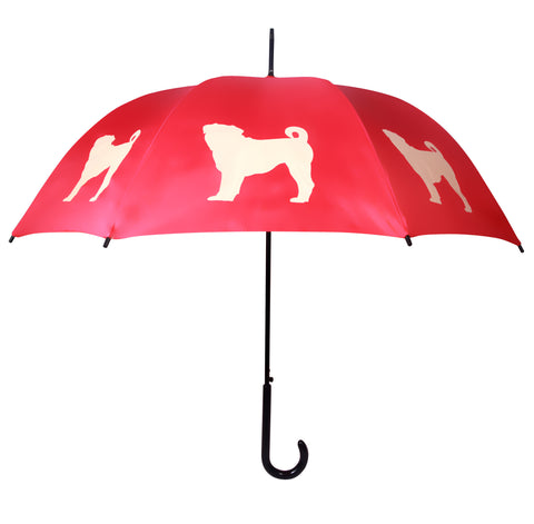 ** Pug Umbrella Red & Light Yellow