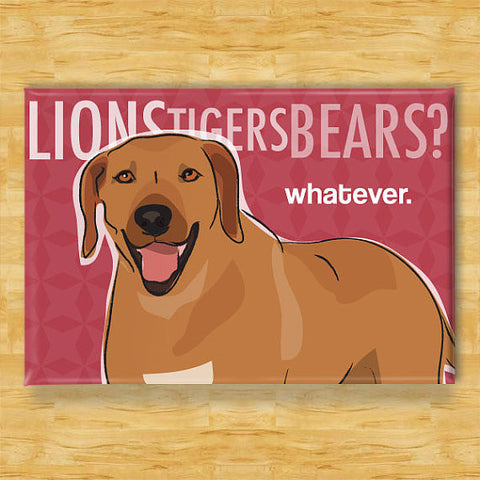 ** Rhodesian Ridgeback Dog Magnet - Lions Tigers Bears Whatever