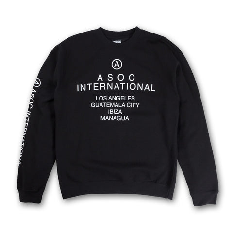 ASOC INTL. Crewneck in Black