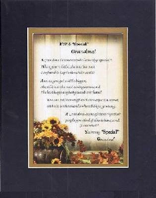 Touching and Heartfelt Poem for GrandParents - For a Special Grandmother Poem on 11 x 14 inches Double Beveled Matting