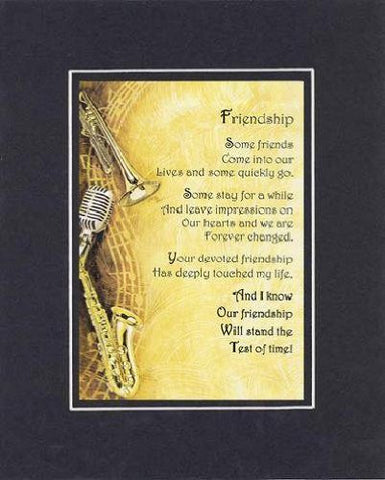 Touching and Heartfelt Poem for Special Friends - Friendship Poem on 11 x 14 inches Double Beveled Matting