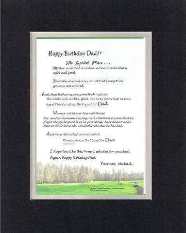 Touching and Heartfelt Poem for Father - His Special Place . . . Poem on 11 x 14 inches Double Beveled Matting