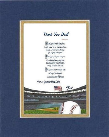 Touching and Heartfelt Poem for Fathers - [Quite a Hero!] on 11 x 14 inches Double Beveled Matting