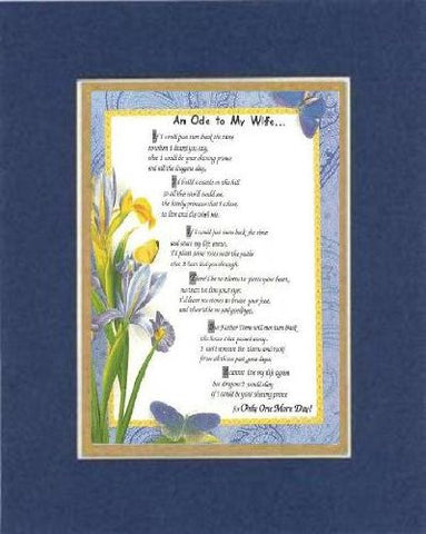 Touching and Heartfelt Poem for Love & Marriage - [An Ode to My Wife...] on 11 x 14 CUSTOM-CUT EXTRA-WIDE Double Beveled Matting