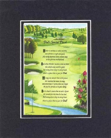 Touching and Heartfelt Poem for Fathers - [Dad's Special Place! ] on 11 x 14 CUSTOM-CUT EXTRA-WIDE Double Beveled Matting