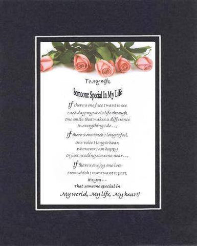 Heartfelt Plaque for Love & Marriage -  11 x 14 Double-Beveled Matting