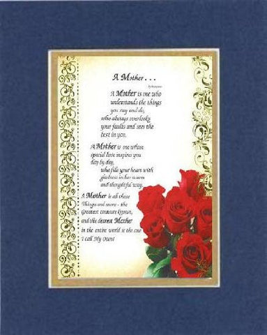 Touching and Heartfelt Poem for Mothers - A Mother ...  on 11 x 14 CUSTOM-CUT EXTRA-WIDE Double Beveled Matting