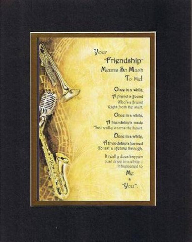 Touching and Heartfelt Poem for Special Friends - Your Friendship Means So Much Poem on 11 x 14 inches Double Beveled Matting