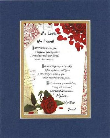 Touching and Heartfelt Poem for Love & Marriage - My Love...  on 11 x 14 CUSTOM-CUT EXTRA-WIDE Double Beveled Matting