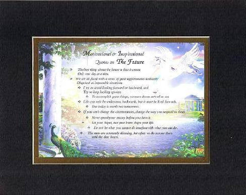 Compilation of Motivational & Inspirational Quotes on The Future - 8 x 10 inches Poem on 11 x 14 inches Double Beveled Matting