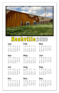 Nashville Calendar Photo Magnets | Guitar Mural
