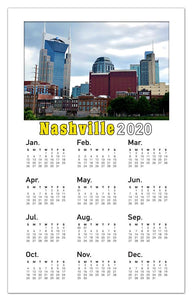 Nashville Calendar Photo Magnets | Skyline Photo