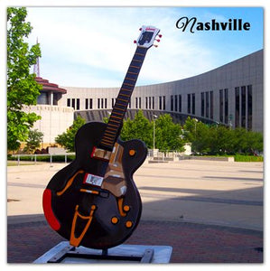 Nashville Picture Magnet | Guitar with Hall of Fame