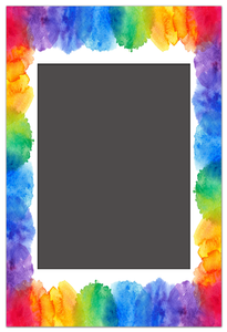 Magnetic Photo Frame Rainbow