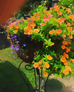 Nashville Artist | Orange Waterfall of Flowers