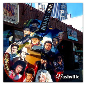 Nashville Photo Magnets | Guitar Legends | Willie Nelson Dolly Parton Patsy Kline Johnny Cash