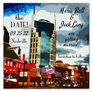 Nashville Save The Date Photo Magnets | Broadway | Batman Building