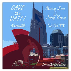 Nashville Save The Date Photo Magnets | Skyline Photo | Ghost Ballet