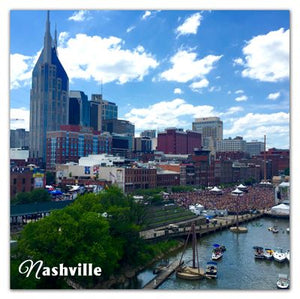 Nashville Photo Magnets | Skyline with Clouds