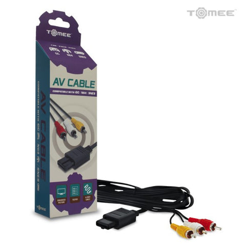 GameCube / Nintendo 64 / Super Nintendo AV Cable - Tomee - NEW