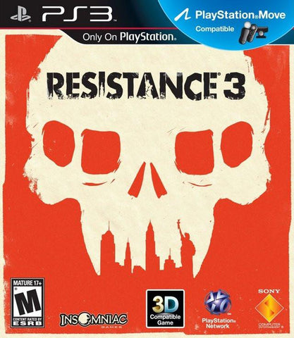 PlayStation 3 Resistance 3 (Game Disc Only)