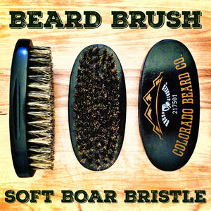 Engraved Boar Bristle Oval Military Style Brush