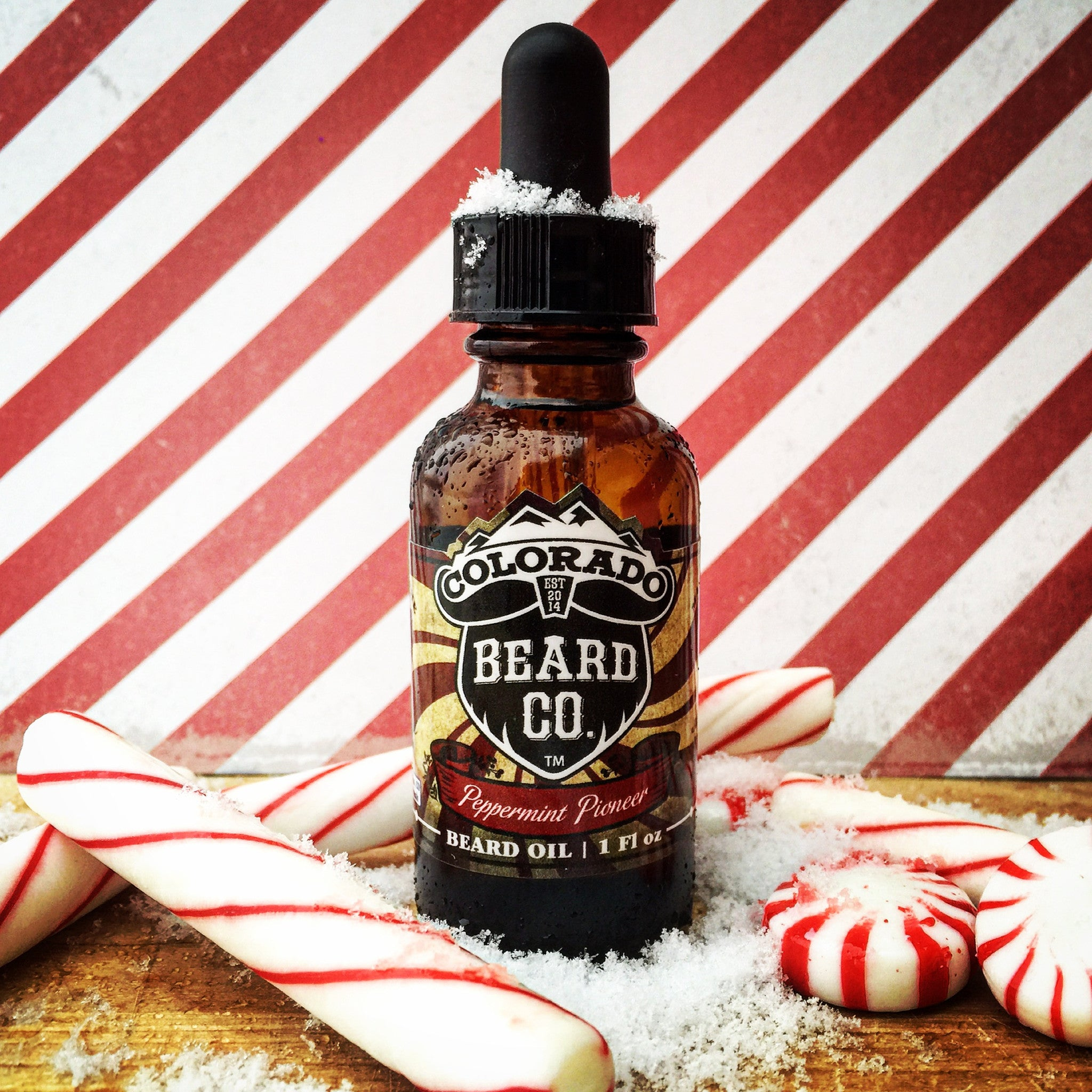 """Peppermint Pioneer"" Beard Oil Dropper Bottle - 1 oz"